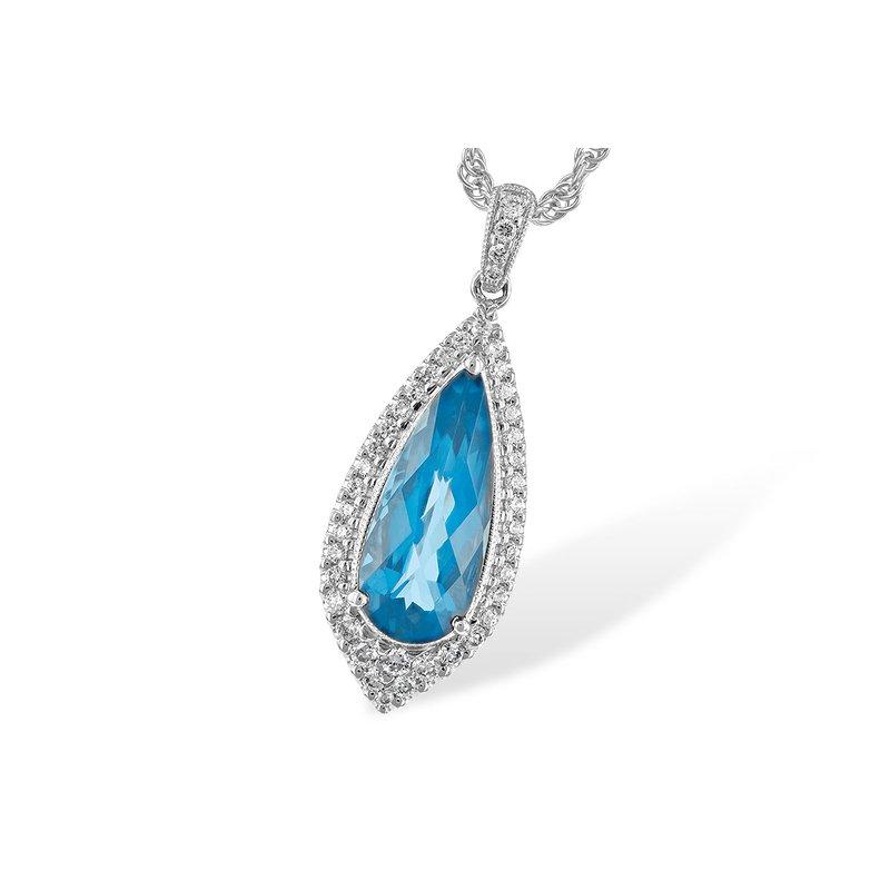 Allison-Kaufman What a Standout Gemstone Pendant in Blue Topaz