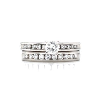 Platinum & Diamond Bridal Set -3/4ctw