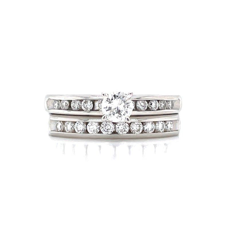 Bryan Beauties Platinum & Diamond Bridal Set -3/4ctw