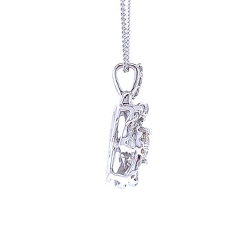 Love's Crossing Diamond Pendant-1ctw
