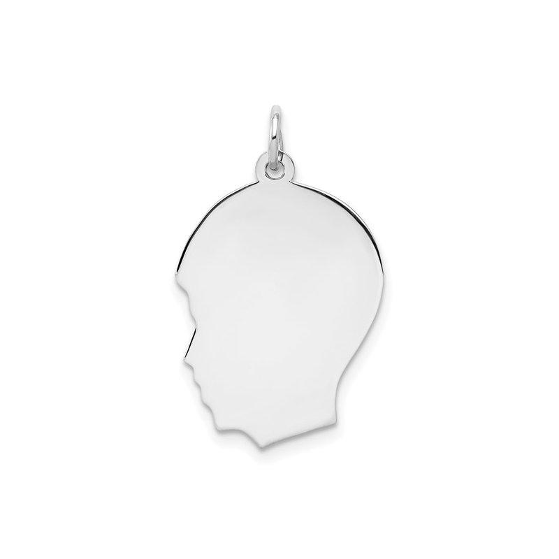 Bryan Beauties Boy Silhouette-Sterling Silver