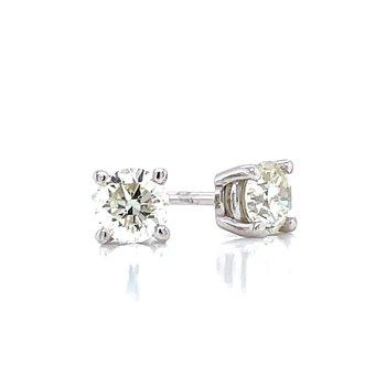 1/2ctw Diamond Studs-14kw