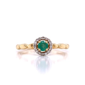 Emerald with Halo - 10ky