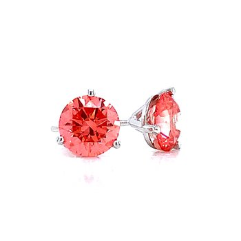 Evolv-Pink Diamond Earrings 1 1/2ctw