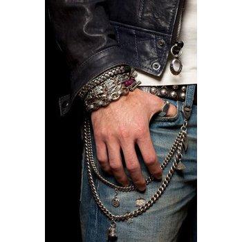 Mens Silver Snake Bracelet