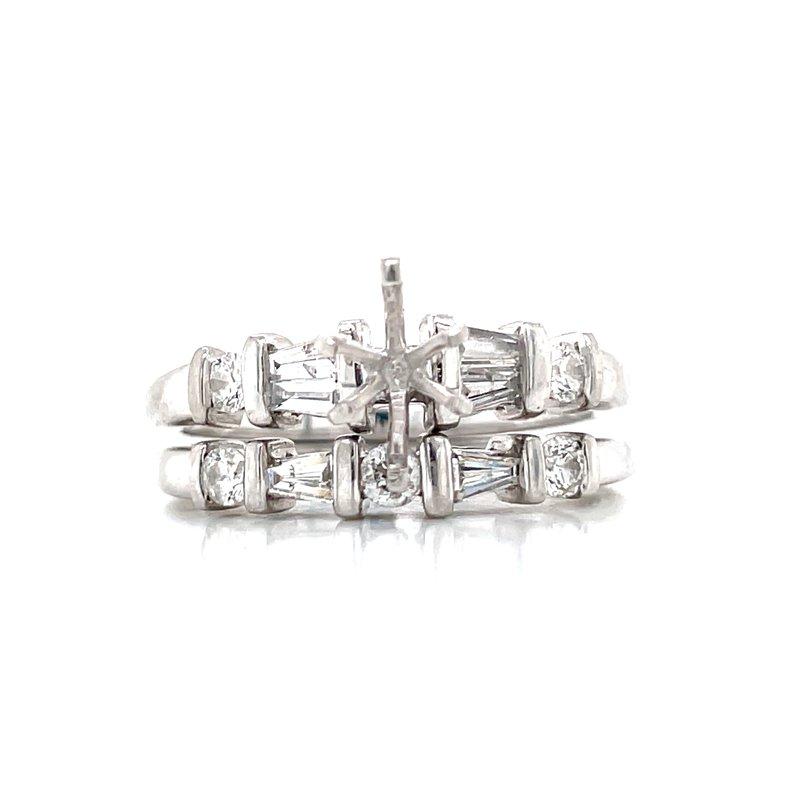 Bryan Beauties Platinum Semi-mount Bridal Set