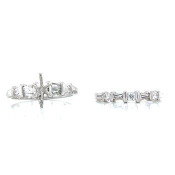 Platinum Semi-mount Bridal Set