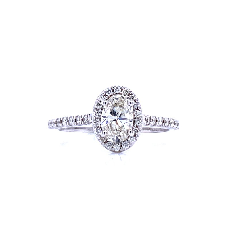 Bryan Beauties Oval Diamond Engagement with Halo