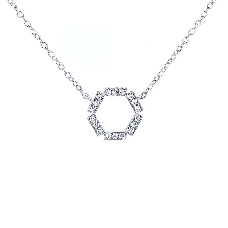 Bryan Beauties Hexagon Diamond Necklace