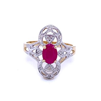 Vintage Style Ruby Fashion Ring