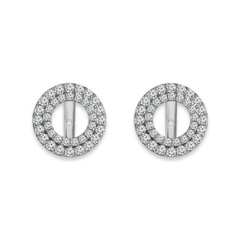 Round Double Halo Earring Jackets