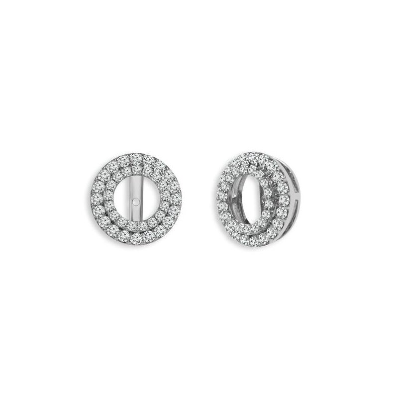 Bryan Beauties Round Double Halo Earring Jackets
