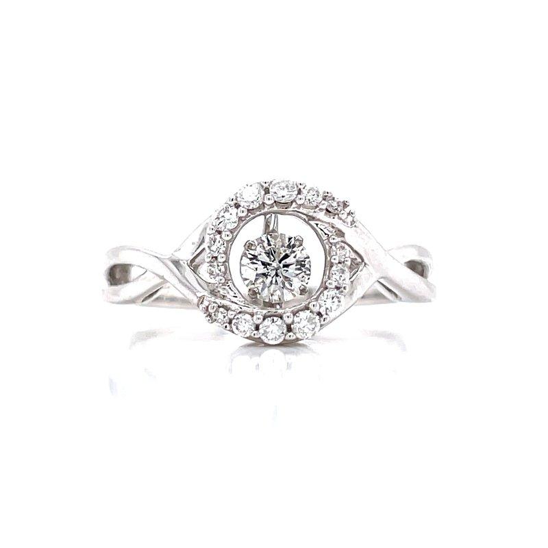 Ostbye Halo Shimmering Diamond Ring