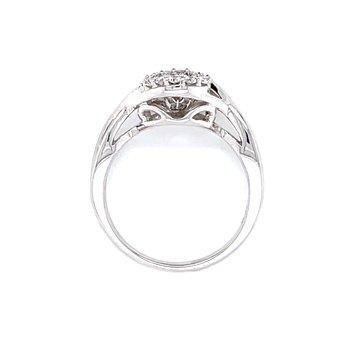 Halo Shimmering Diamond Ring