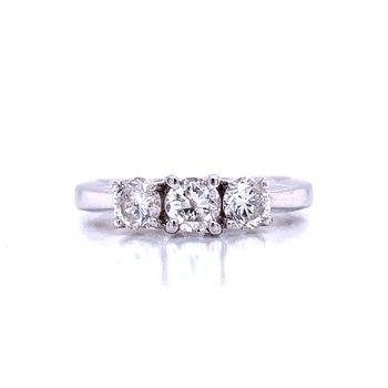 Three Stone Diamond Ring- 1ctw