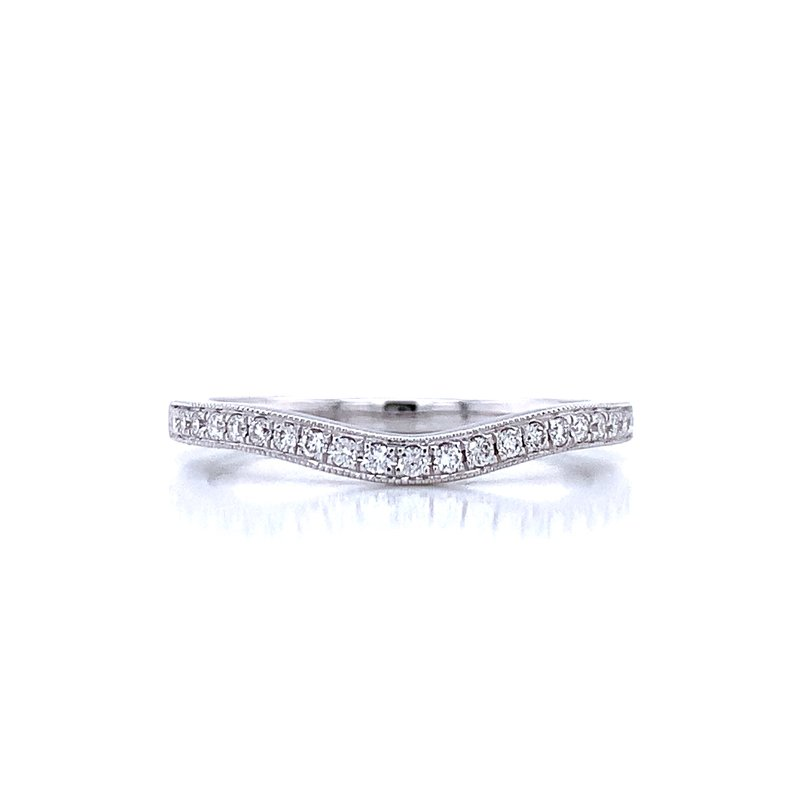 Ostbye Curved Diamond Wedding Band