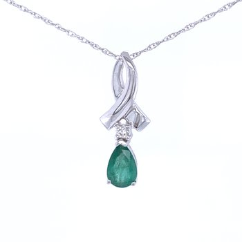 Pear Shaped Emerald Pendant Drop