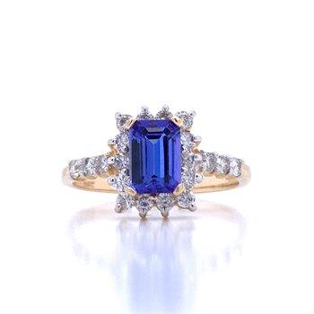 Emerald Cut Tanzanite Ring