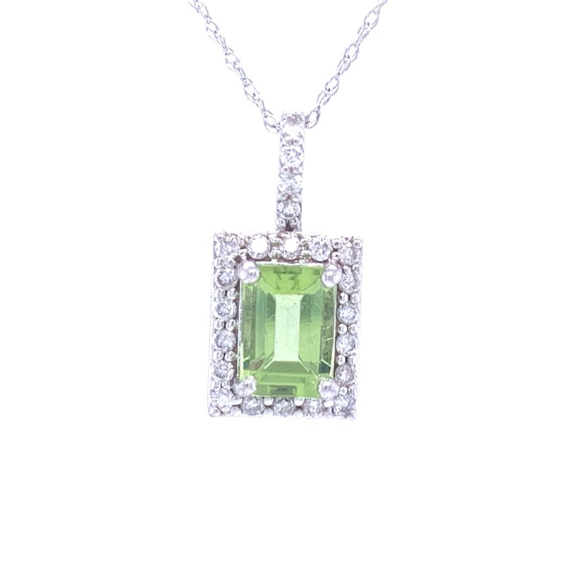 Ostbye Elegant Emerald Cut Peridot Pendant