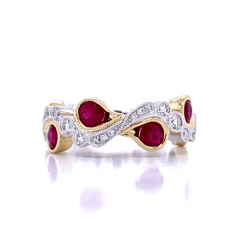 Incredible Beauty Ruby & Diamond Band