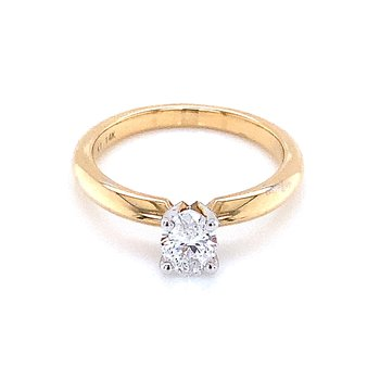 1/2 carat oval Solitaire