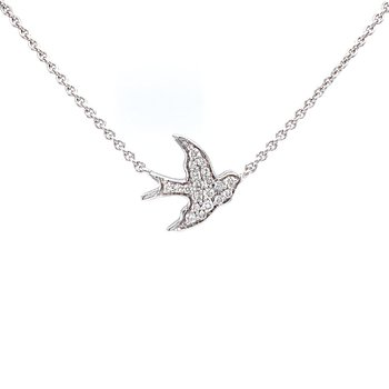 Swallow Necklace with Diamonds