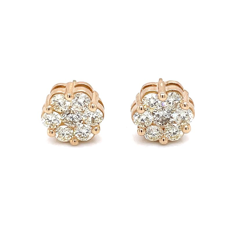 Bryan Beauties Flower Cluster Earrings 2ctw 10ky