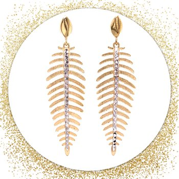 Feather Earrings-14ky