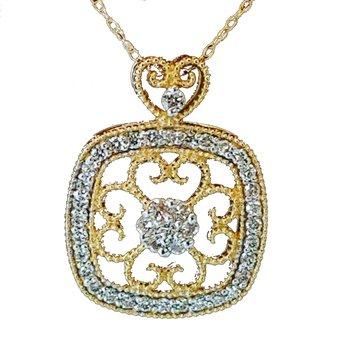 You Touch My Heart Diamond Pendant