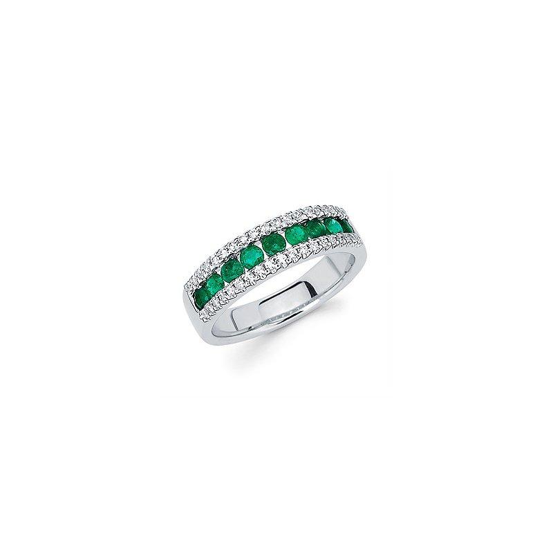 Ostbye Emerald and Diamond Band