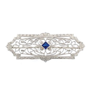 Vintage Sapphire Brooch