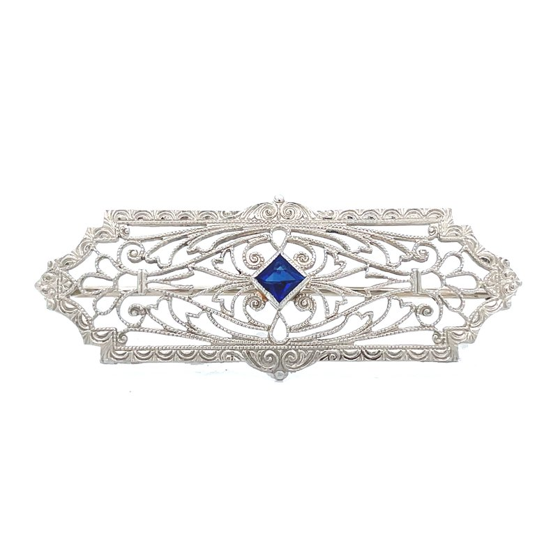 Previously Loved Vintage Sapphire Brooch