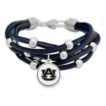 "Blue Multi Strand Bracelet with ""AU"""
