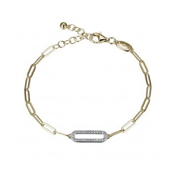 Paperclip Bracelet with Sparkle