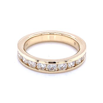 Channel Set Diamond Wedding Band 14ky-1ctw