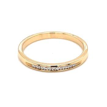 1/10ctw Channel Set Diamond Wedding Band-14ky