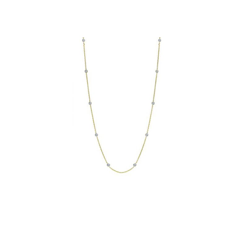 Bryan Beauties Station to Station CZ Necklace in Vermeil