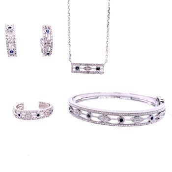 Vintage Style Sapphire & Diamond Necklace