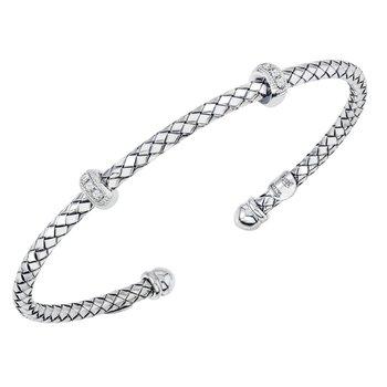 Traversa Cuff Bangle with .06ctw Diamonds