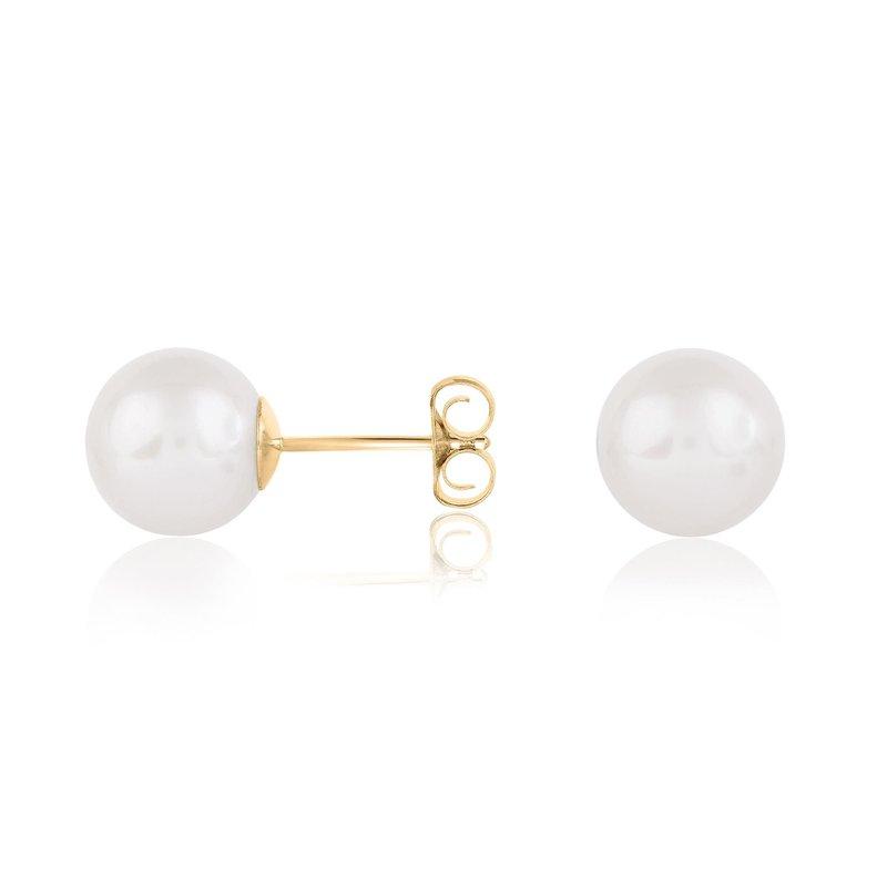 Bryan Beauties Cultured Fresh Water Pearl Earrings 6.5-7mm