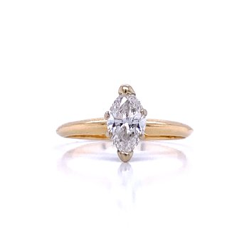 3/4 carat Marquise Engagement Ring