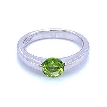 Contemporary Lines Peridot Ring