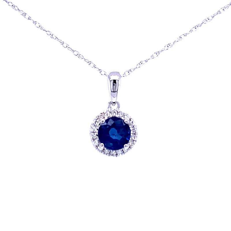 Bryan Beauties Sapphire and Diamond Halo Pendant