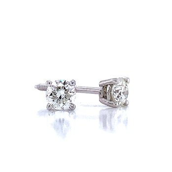 1/2ctw Diamond Studs-Screw backs