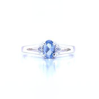 Children's March Birthstone Ring