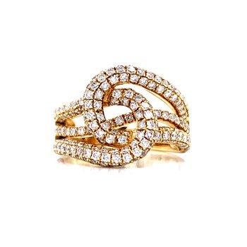 Interlocking Loops of Diamonds