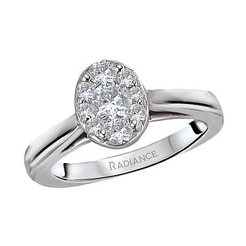14KW RADIANCE OVAL DIAMOND ENGAGEMENT, RING DIAMOND WEIGHT 1/2CTW