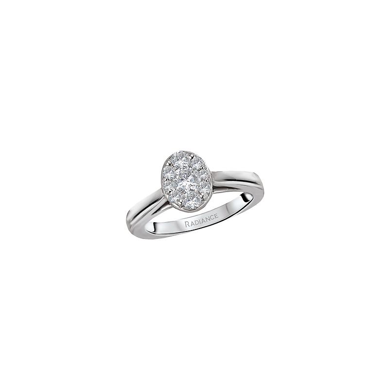 Bryan Beauties 14KW RADIANCE OVAL DIAMOND ENGAGEMENT, RING DIAMOND WEIGHT 1/2CTW