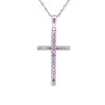 Latin Style Diamond Cross in Sterling Silver