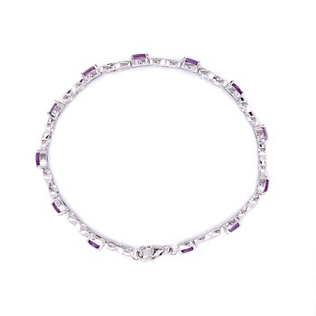 Amethyst and Sterling Silver Infinity Bracelet